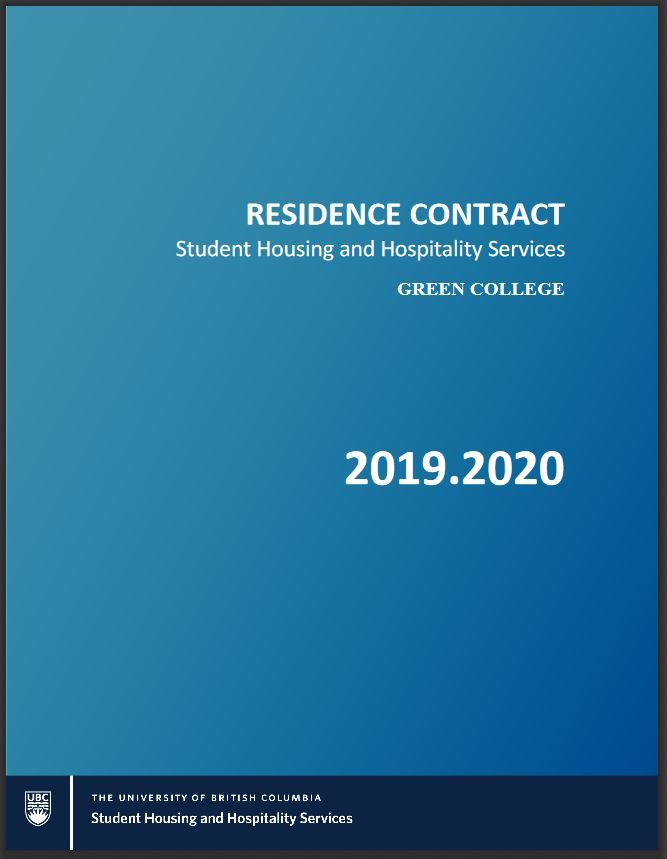 UBC Housing Contracts